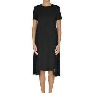 Maison Margiela 44 US 8 Pleated Wool Silk Dress